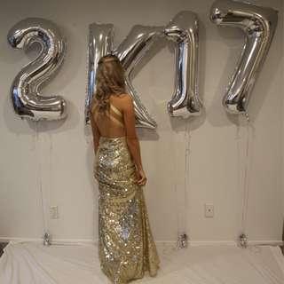 Sequin Gold Ball Dress