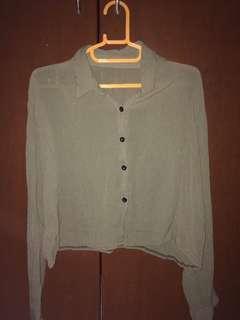 Long-sleeved Crop top