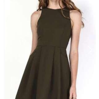 *SALE* Olive Green Dress w/ Pockets
