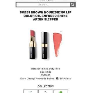 RTP $35 BNIB BOBBI BROWN Lip stick #huat50sale