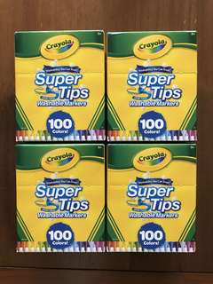 Crayola SuperTips Washable Markers 100 Colours