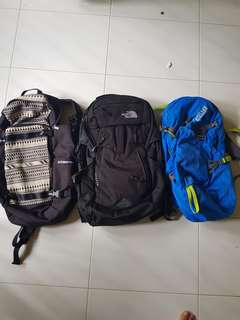 Bags sale (northface sold)