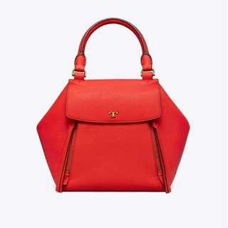 Tory Burch Half Moon Satchel Red