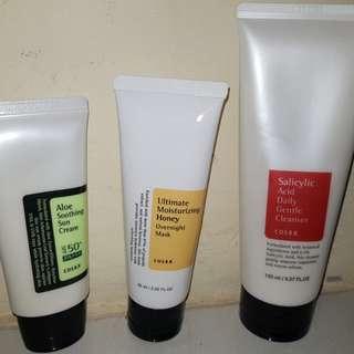 Pembersih wajah, masker wajah dan sunblock