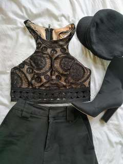 Funky crop top size 10