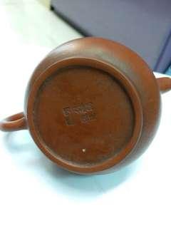 孟臣款旧紫砂细壶