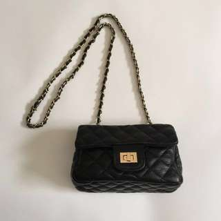 New Small Quilted Black Handbag - Women's Faux Leather Bag ❤️ Made in Korea ❤️