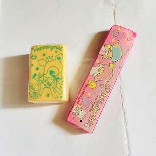Sanrio pencil lead and eraser