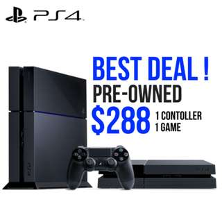 PS4 Console 1 Controller + 1 Game