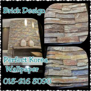 WALLPAPER - BRICK DESIGN IN 3D
