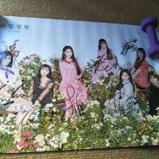 Signed oh my girl poster