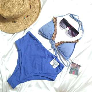 High waist Two Piece Padded Swimsuit