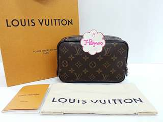 Authentic Like New Louis Vuitton Monogram Macassar Trous Toilet Pouch PM M47507 {{ Only For Sale }} ** No Trade ** {{ Fixed Price Non-Neg }} ** 定价 **