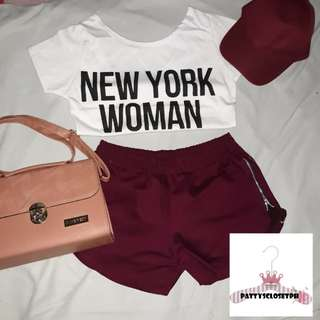 NYW Crop Top in White