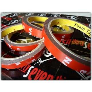 Red Double Tape Foam 3M (1cm x 3.5m)