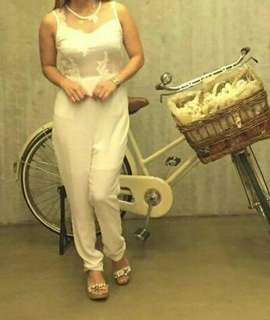 White Lace Jump Suit