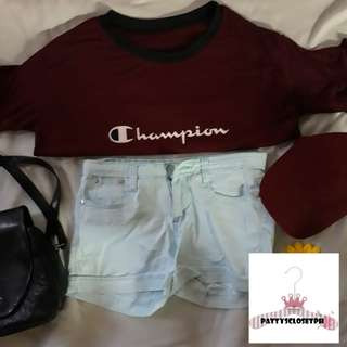 Champion Ringer Blouse in Maroon