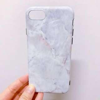 全新 iPhone 7 case 白色雲石紋 (soft)