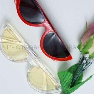 kacamata semangka - watermelon sunglasses half frame