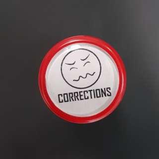 Teacher Stamp: CORRECTIONS