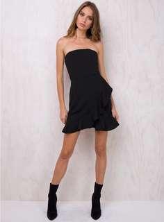 Princess Polly strapless little black dress