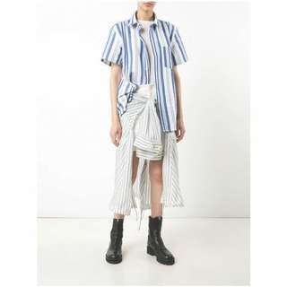 Sacai Shirt tie insert skirt