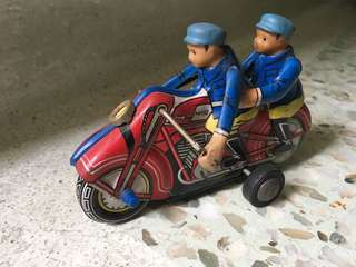 Vintage motorcycle tin toy collectible