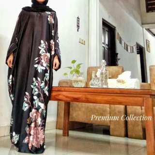 Pastel Printed Silk Abaya