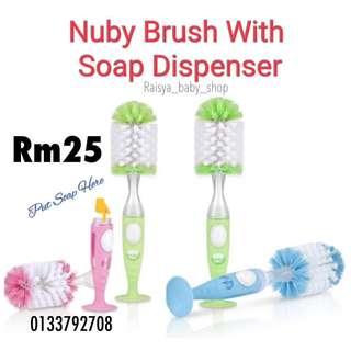 Nuby brush with soap dispenser