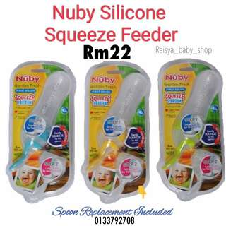 Nuby silicone squeeze feeder