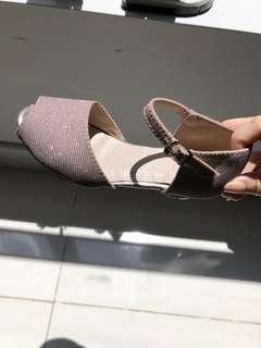 Shimmering pink heels