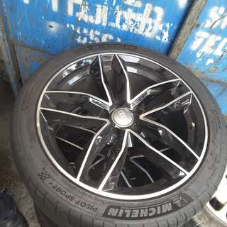 AUDI A4 RIMS 18'' WITH TYRES