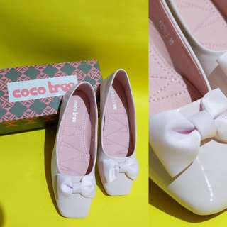 Baby Pink Ribbon Flat Shoes PRELOVED