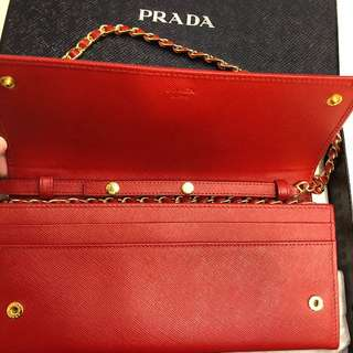 Prada 長型手袋銀包(9成新)