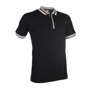 High Quality Unisex Black Polo Collar T-Shirt SJ0402