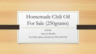 Chili Oil - Homemade