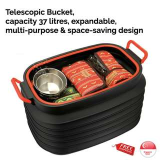 Telescopic Bucket 37L, including top cover