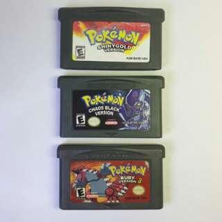 Nintendo Gameboy Advance Pokemon Bootleg Games Bundle