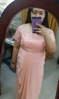 Peach Plus Size Gown