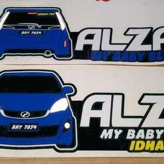 Sticker kereta