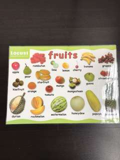 Educational Poster- Fruits