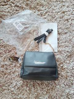 Authentic Christian Siriano black chain bag