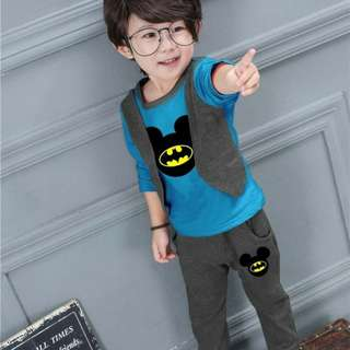 Set anak boy rompi batman