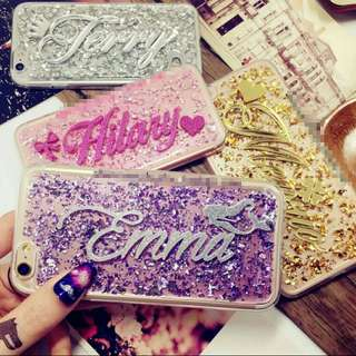 Customise Customize Name Multicolour Gold Foil Phone Case
