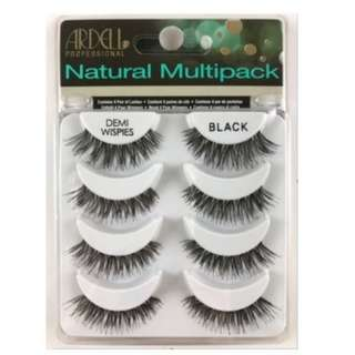 Ardell DEMI WISPIES NATURAL MULTIPACK False Eyelashes Fake Lashes x 4 Pairs BRAND NEW (NO OFFERS)