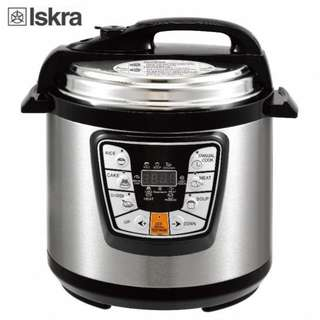 (ISKRA) 6L Electric Pressure Cooker Timer Rice Cooker