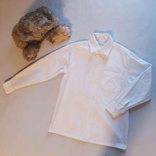 Formal White Long Sleeved Polo