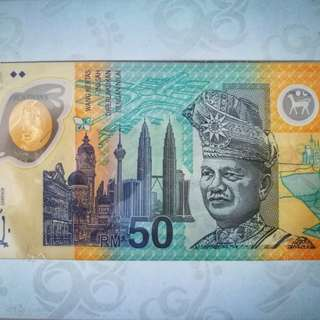 Authentic Super Rare Limited Edition RM50 Currency Note