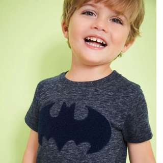 JB016 New Boys Batman Tee T-shirt Top 18M 2T 3T 4T 5T 6T