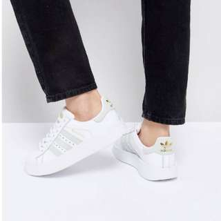 Adidas originals White and Mint superstar bold and some trainer